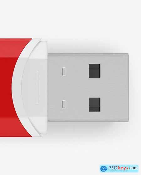 Matte USB Flash Drive Mockup 85329
