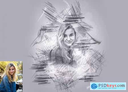Quick Pencil Sketch Photoshop Action 5997318