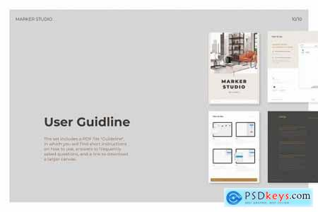 Realistic Procreate Marker Kit 6008764
