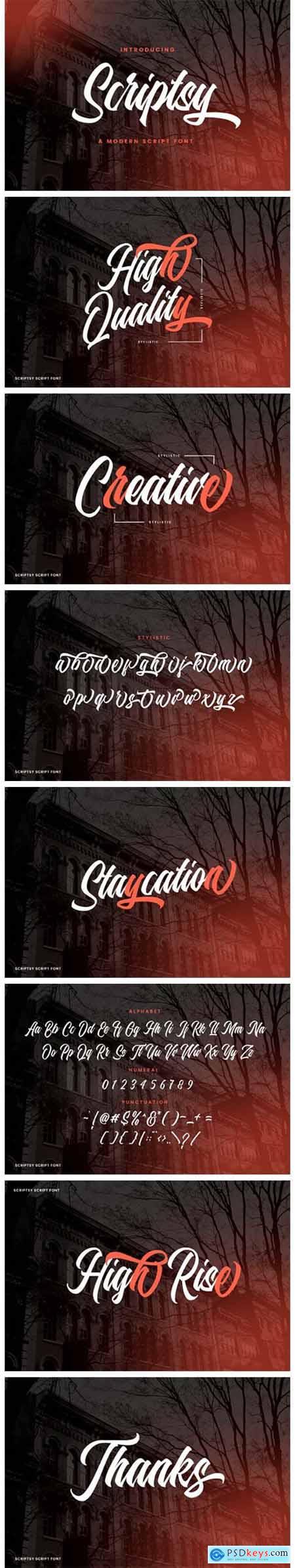 Scriptsy Font