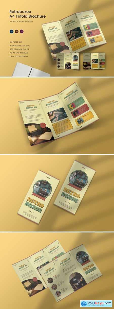 Retroboxoe Trifold Brochure
