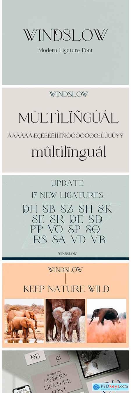 Windslow - Modern Ligature Font