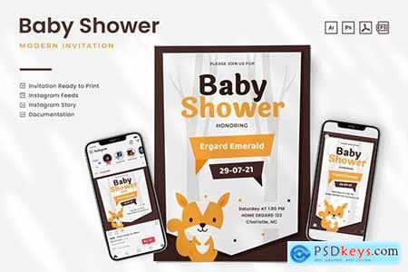Baby Shower Invitation - Print & Social Media PSVJJSR