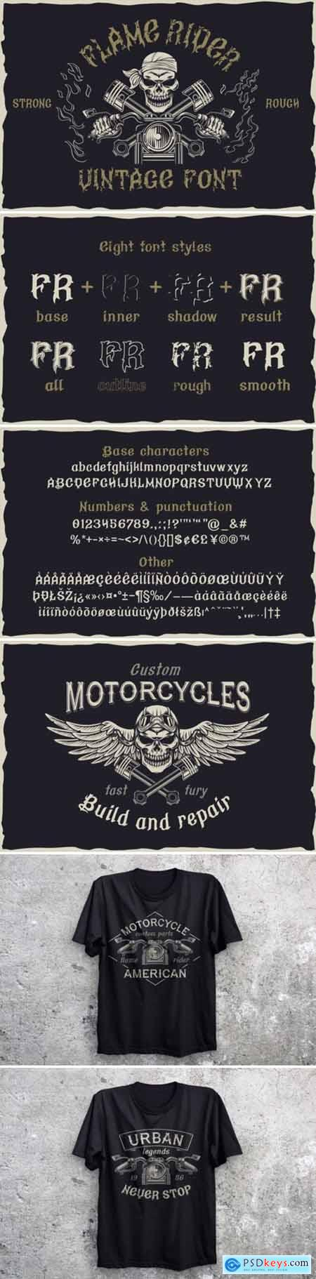Flame Rider Font