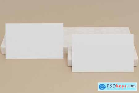 10 Perspective Business Card Mockup Pack 07