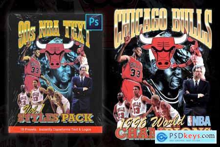 90s NBA Text Styles Pack (Vol. 1) 6175134