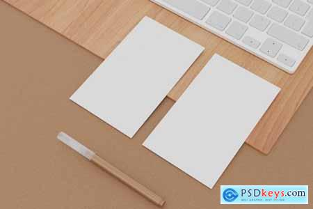 9 Perspective Business Card Mockup Pack 14