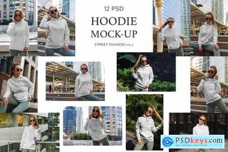 Hoodie Mock-Up Street Fashion vol.2 4498021