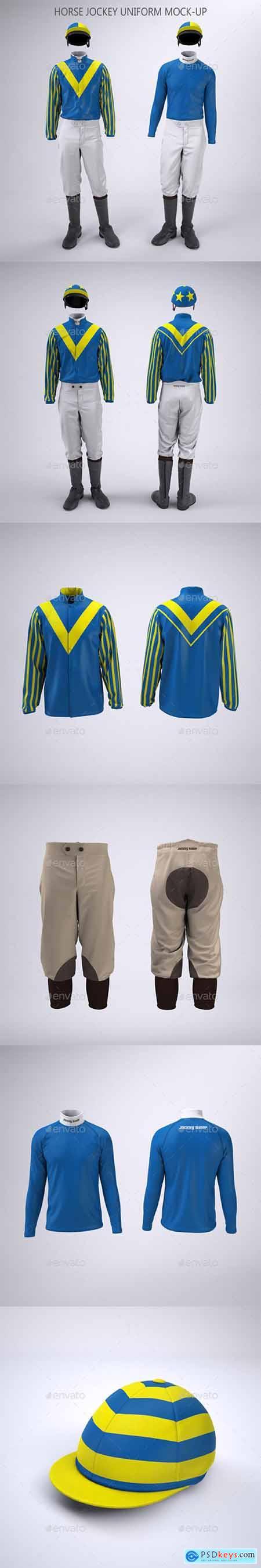 Horse Racing Jockey Uniform Mock-Up 32770535