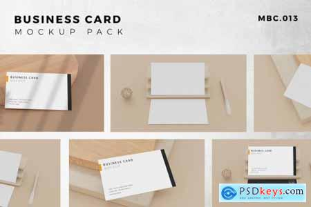 9 Perspective Business Card Mockup Pack 13