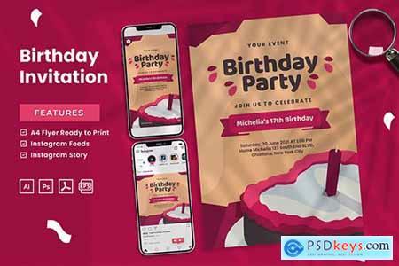 Birthday Invitation - Print & Social Media 7B5RZE9