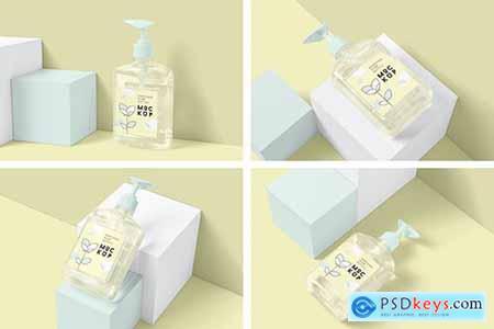 Rectangle Soap Pump Bottle Mockups