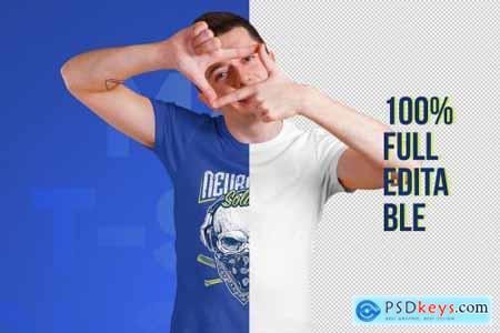 Male T-Shirt PSD Mockups Vol3 5751739