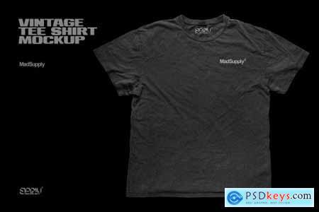 Vintage Distressed T-Shirt Mockup 5910323