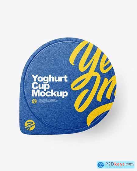 Yoghurt Cup Mockup 86196