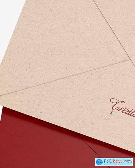 Two Kraft Paper Envelopes Mockup 86391