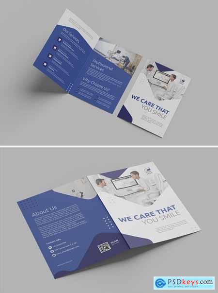 Blue Professional Business – Bifold Brochure