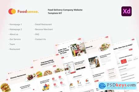 FoodSense - Food delivery website template kit