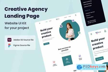 Creative Agency Website UI Kit