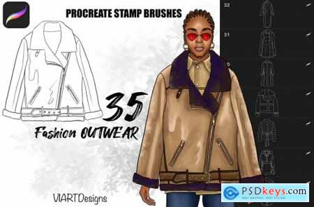 Fashion outwear stamps Procreate 5835230