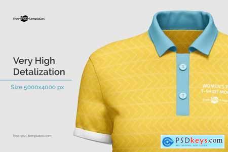 Womens Polo T-Shirt Mockup 5828222