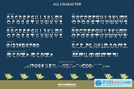 Montera Display Typeface Font