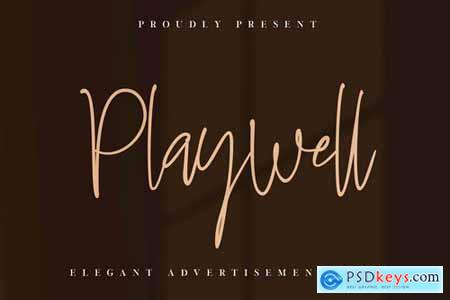Playwell Business Signature Font