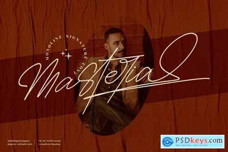 Masteria Monoline Signature Font