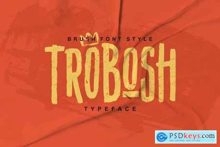 TROBOSH TYPEFACE BRUSH FONT