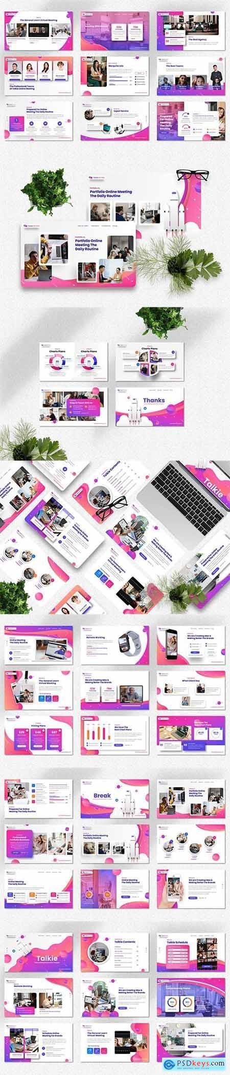 Talkie - Online Meeting - Powerpoint, Keynote and Google Slides Template