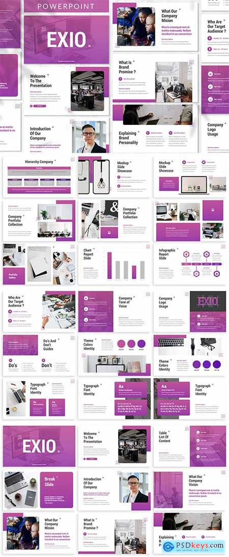 Exio - Creative - Powerpoint, Keynote and Google Slides Template