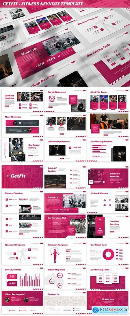 GetFit - Fitness Keynote Template