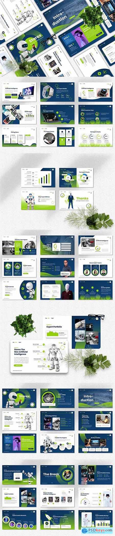 Starex - Technology - Powerpoint, Keynote and Google Slides Template