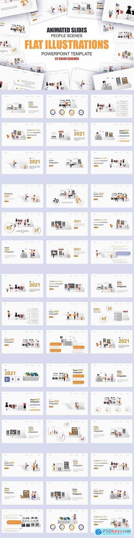 Shopping Illustration Powerpoint Template