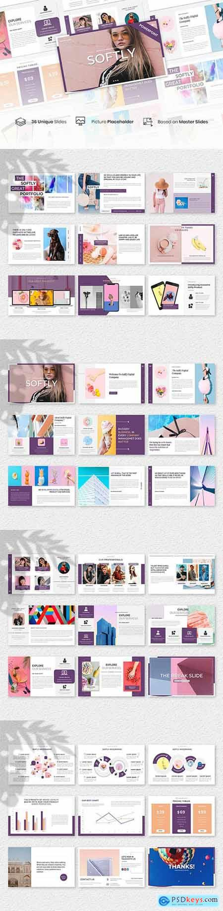 Softly – Creative Business Presentation Template