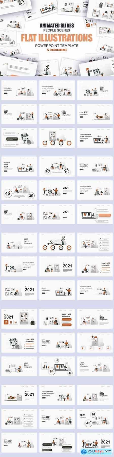 Education Illustration Powerpoint Template