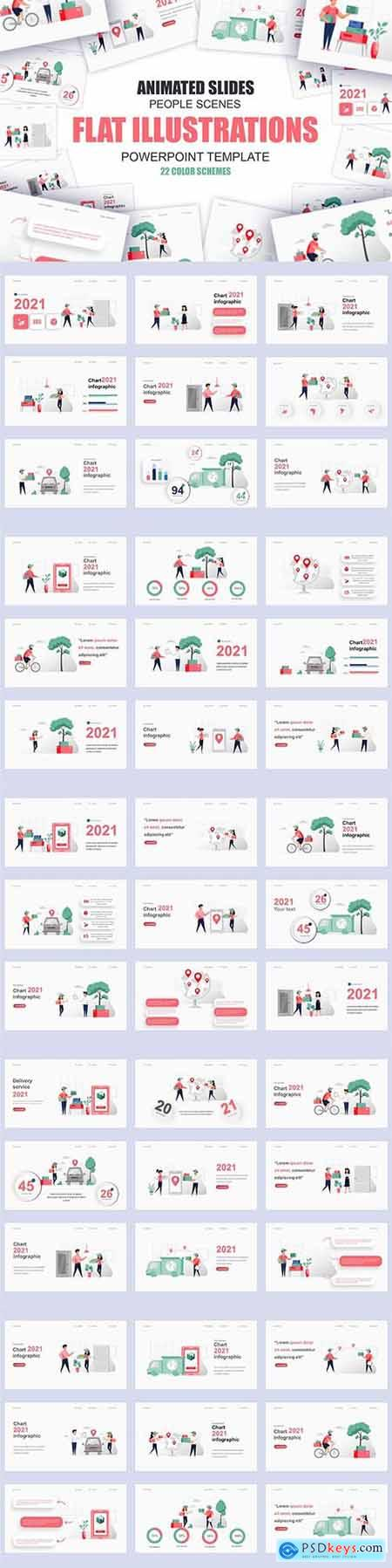 Delivery Illustration Powerpoint Template