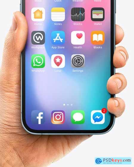 Apple iPhone 12 Pro Max in Hand Mockup 86103