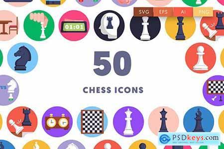 50 Chess Icons JPFRWJA