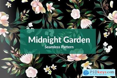 Midnight Garden Seamless Pattern