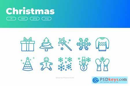 30 Christmas Icons - GRADIENT QB2YFWD