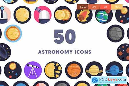 50 Astronomy Icons UCUCPCQ