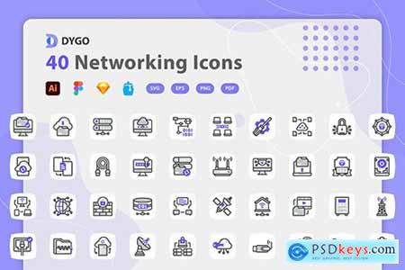 Dygo - Networking Icons PE5Z2Y4