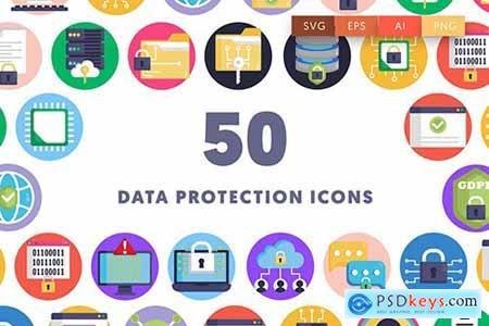 50 Data Protection Icons QX6FG4B