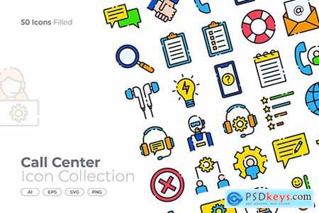 Call Center Filled Icon XLFQLVS