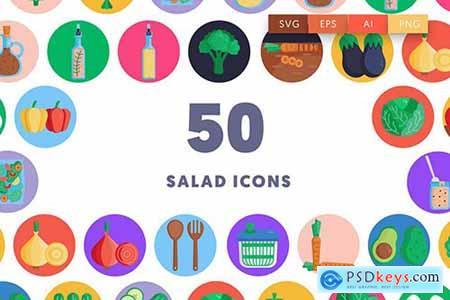 50 Salad Icons 35KUK7K