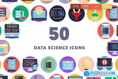 50 Data Science Icons 99WFV56
