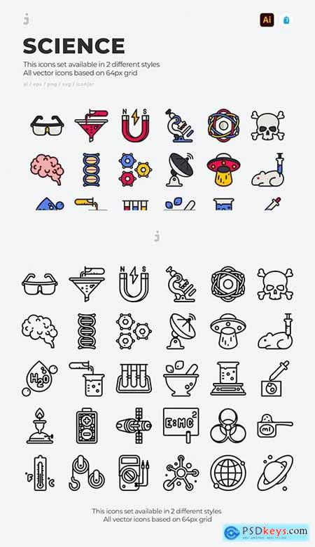 30 Science Icons PZHJUXK