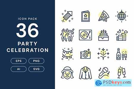 Party Celebration - Icon Pack B5H9XSN