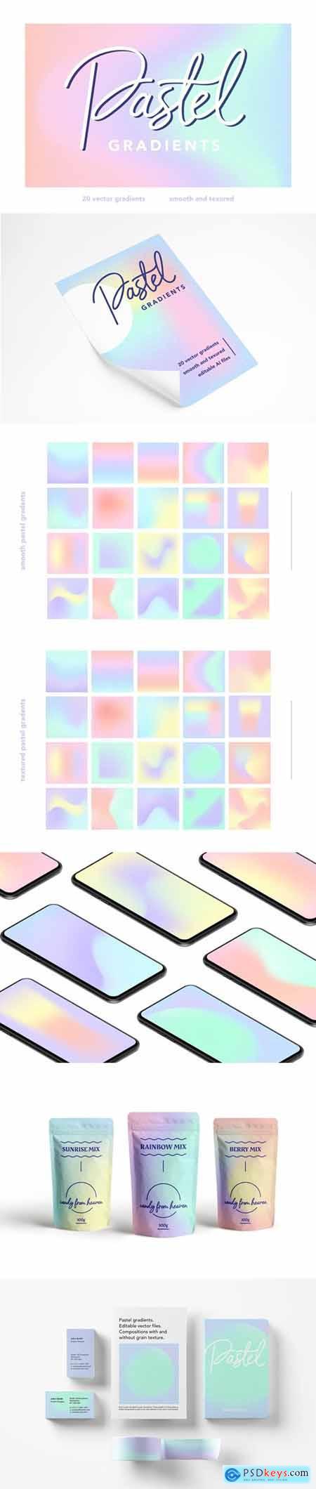 Pastel gradients